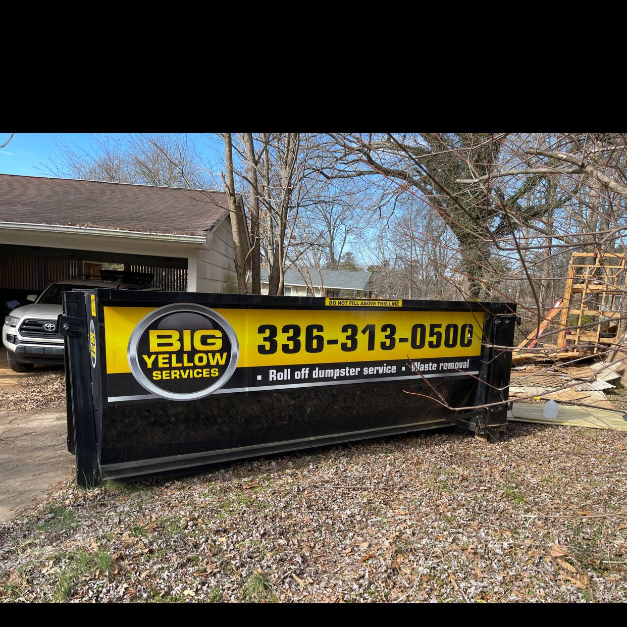 Glen Oaks Road Burlington, NC 27217 Dumpster Rentals in Graham, NC | Roll-Off Dumpster Rentals | Big Yellow Services
