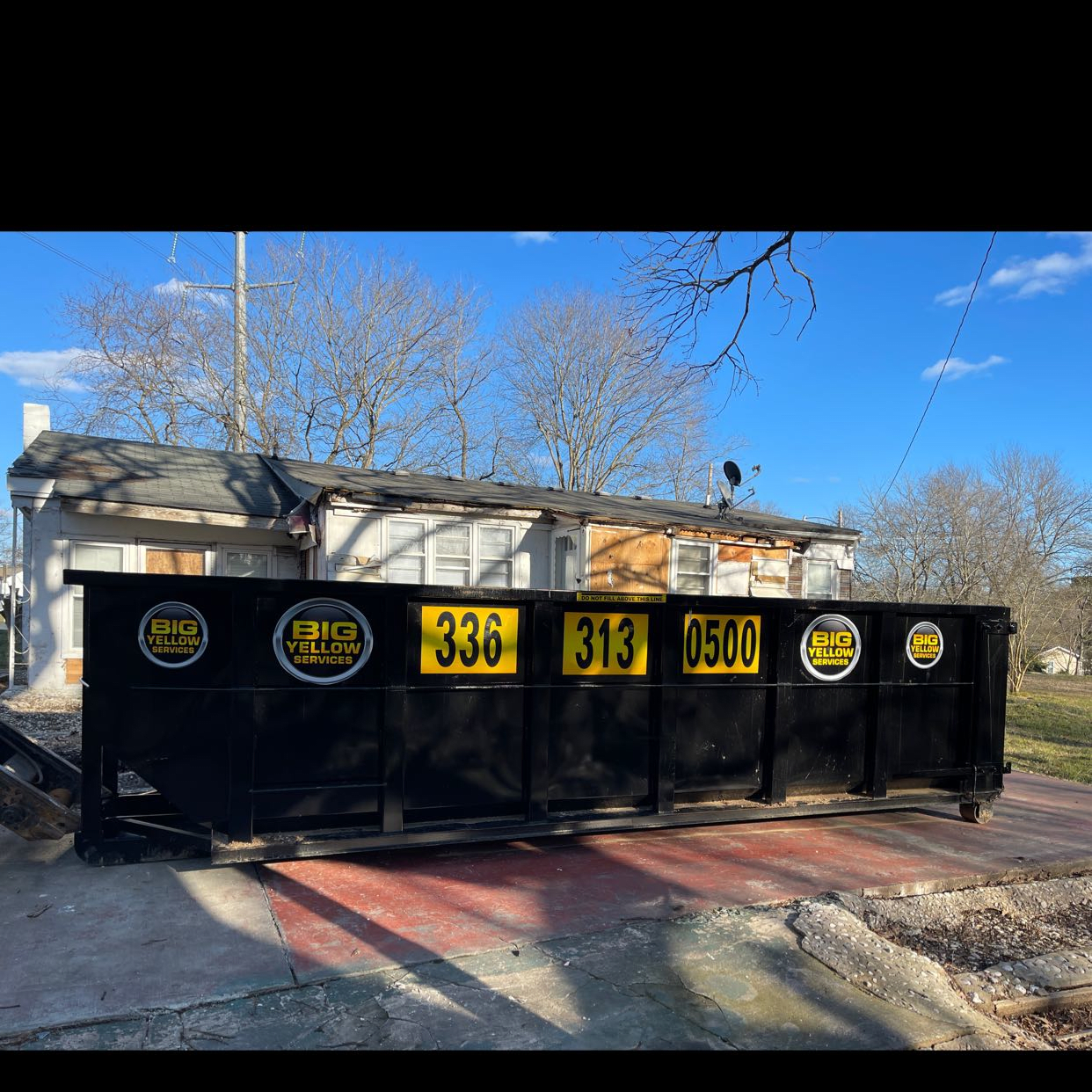 646 Burch Bridge Road Burlington, NC 27217-30-yard Dumpster Rental Customer Photos in Burlington