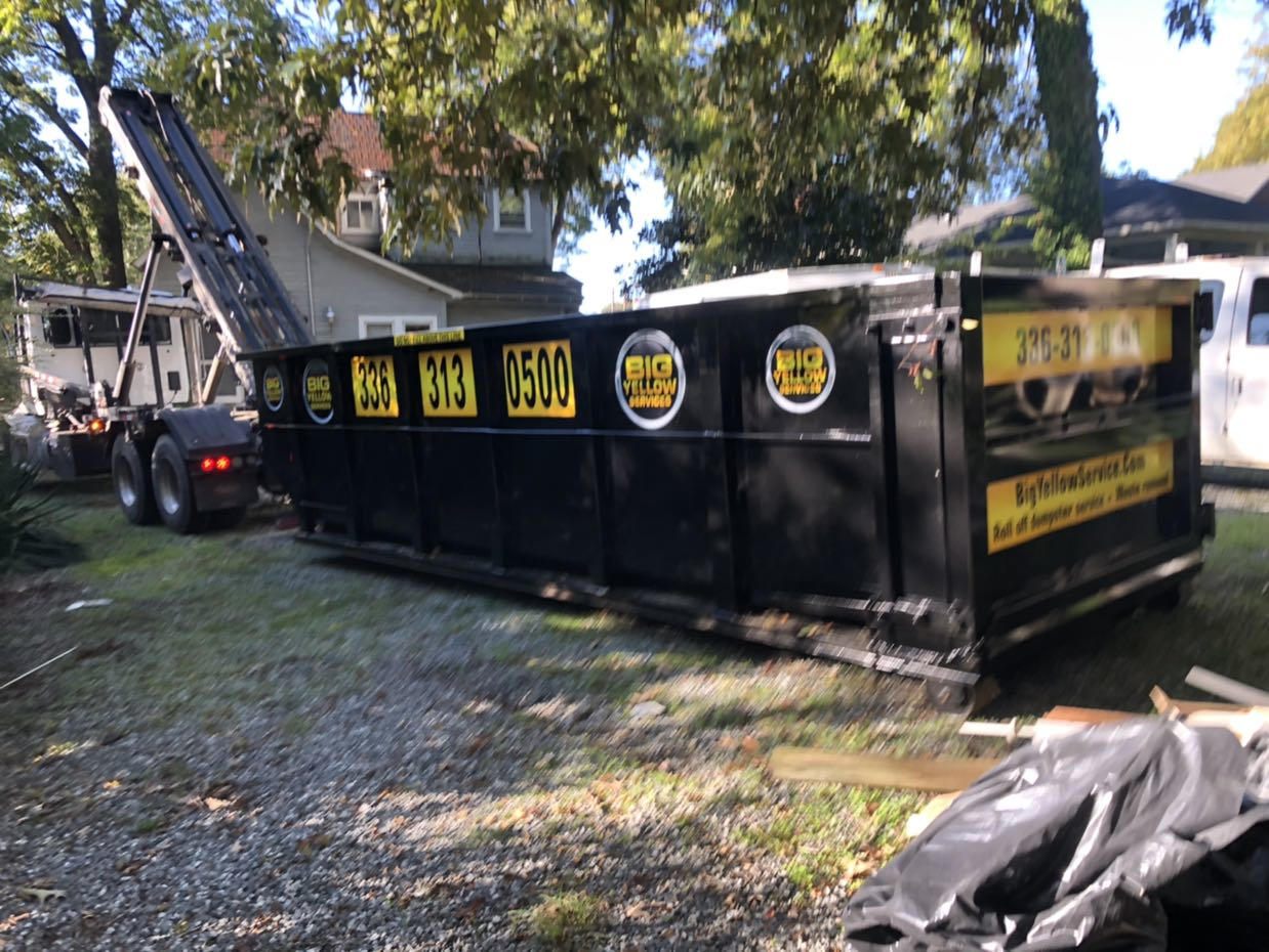Burlington, NC 27215 DUmpster Rental Services 10-14-2020 Dumpster Rental Customer Photos in Burlington